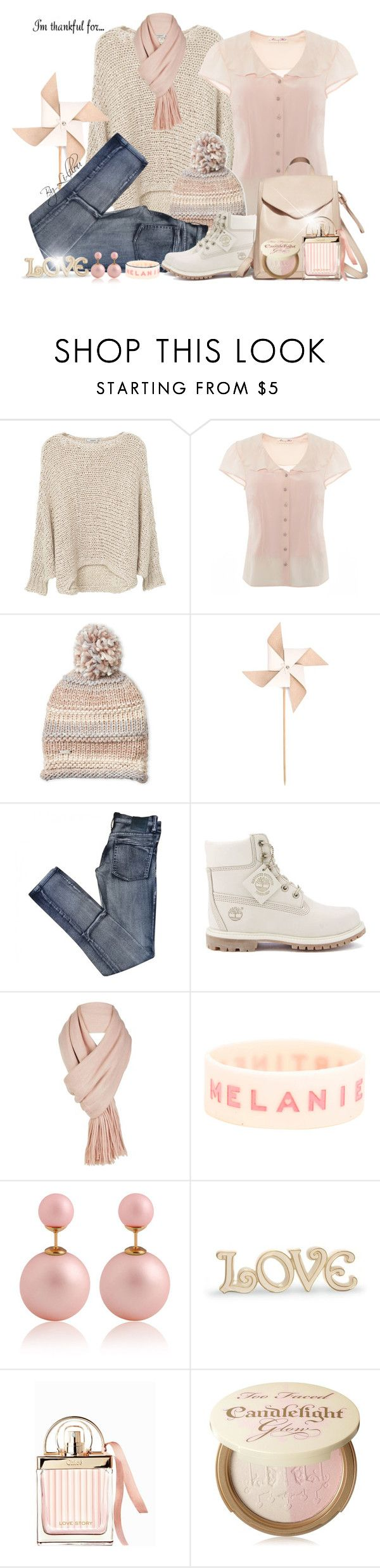"""""""Nude Day"""" by li-lilou ❤ liked on Polyvore featuring MANGO, Steve Madden, Hender Scheme, Cheap Monday, Timberland, Free People, Lenox, Loeffler Randall, Chloé and Too Faced Cosmetics"""