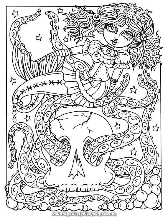 Exceptional 5 Coloring Germanic Mermaid Coloring Pages Set Of 5 Digi Stamps Gothic M Digit Mermaid Coloring Pages Coloring Pages Love Coloring Pages