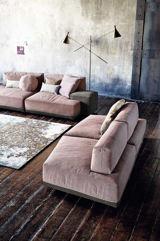 Modular fabric sofa SANDERS   Modular sofa by Ditre Italia