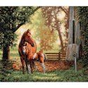 Mare & Foal. Counted Cross Stitch Kit: 14x12. Dimensions Gold Collection.