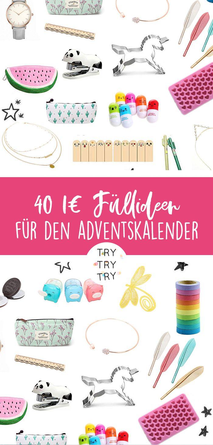 40 Ideen für die Adventskalender-Füllung für 1 …