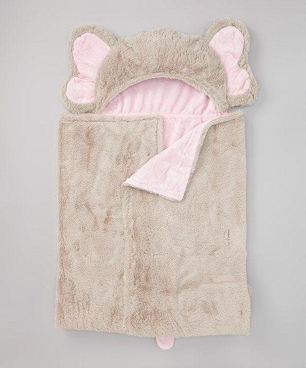 Pink Elephant Hooded Blanket