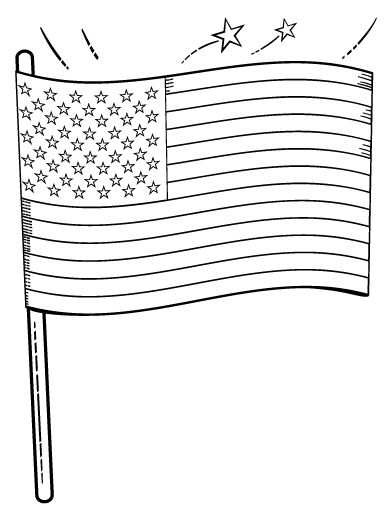 Légend image in printable american flag coloring page