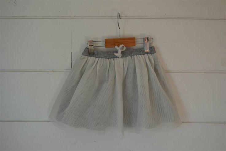Jupe en coton tulle gris irisé Cadet Rousselle - 3 Ans