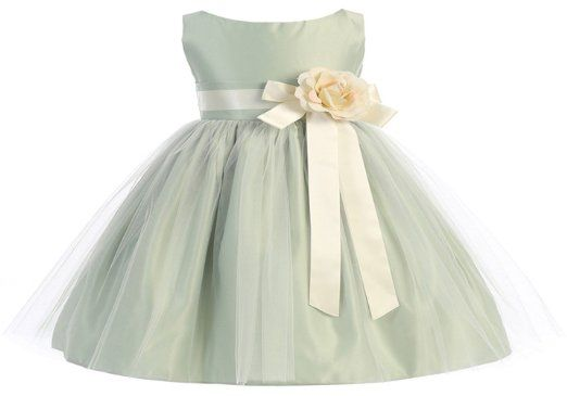 Amazon.com: Sweet Kids Baby-Girls Vintage Satin and Tulle Flower Girl Dress: Clothing