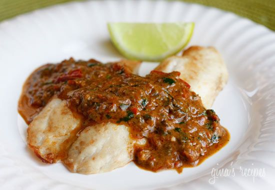 Broiled Tilapia with Thai Coconut Curry Sauce | Skinnytaste