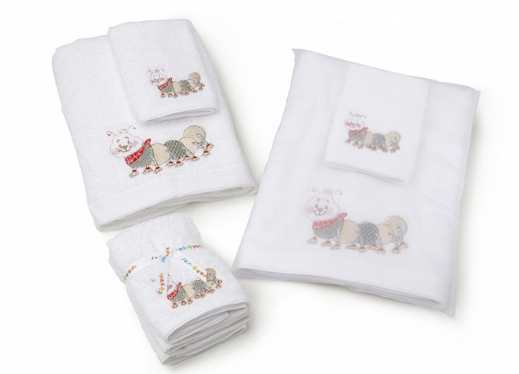 'Natural Caterpillar' towel range includes face washer and bath towels