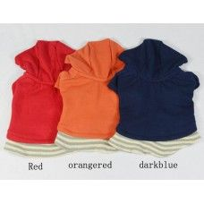 Buy Cute Dog t-shirt hoodie 3 colours only @ $6.99 Athletics/Sports  Small Medium Dog Apparel  Product Code: DTPB-01PL