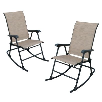 folding rocking chair fitzpatrick 2 sling patio folding rocker set i 29468