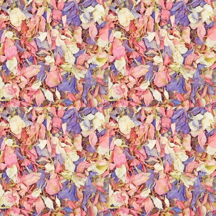 pink purple confetti petals biodegradable