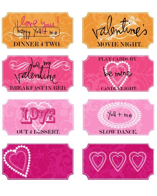 Best Love Coupon Images On   Valentines Valentine