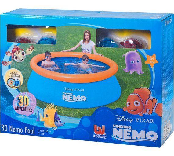Buy Disney Finding Nemo 3D Paddling Pool at Argos.co.uk, visit Argos.co.uk to shop online for Pools and paddling pools, Paddling pools and water games, Outdoor toys, Toys