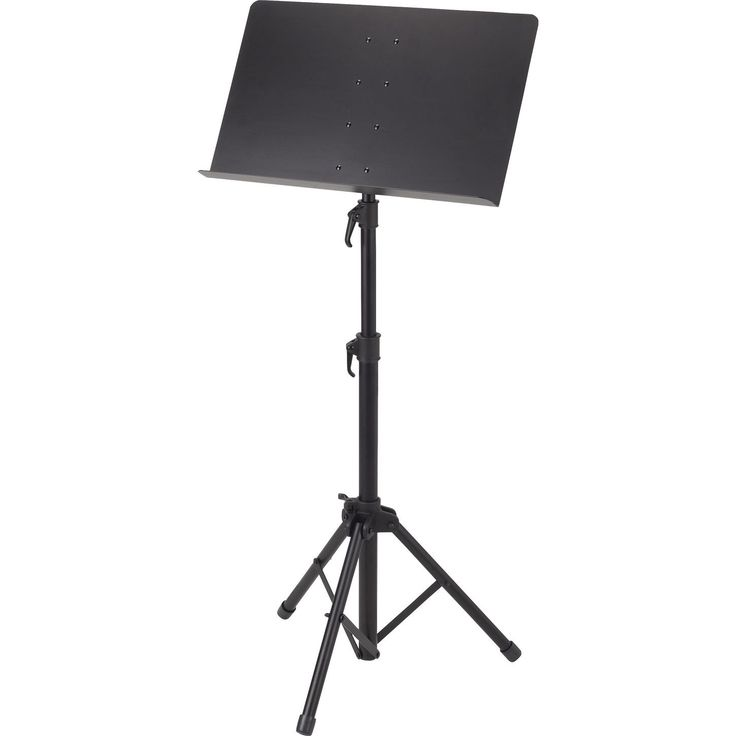 We can use my music stand to hold paper or something for when people come right into the lunchroom or as a prop