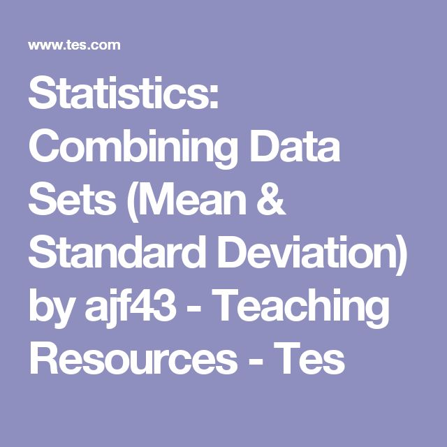 how to find the standard deviation of a data set