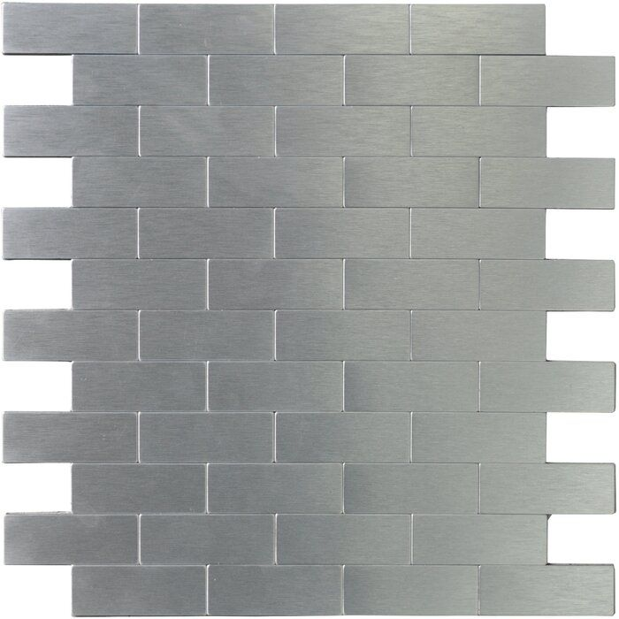 1 X 3 Metal Peel Stick Mosaic Tile In 2020 Metallic Backsplash Metal Tile Backsplash Metallic Wall Tiles