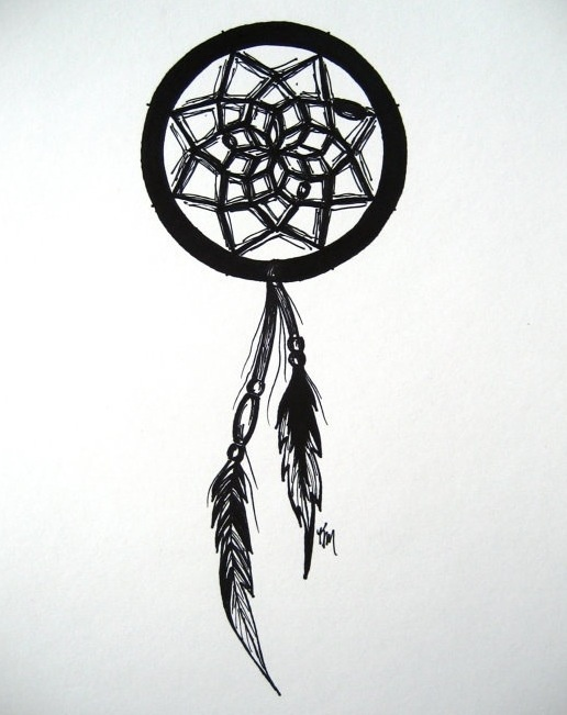 Dreamcatcher drawing tattoo ideas pinterest for Small art drawings