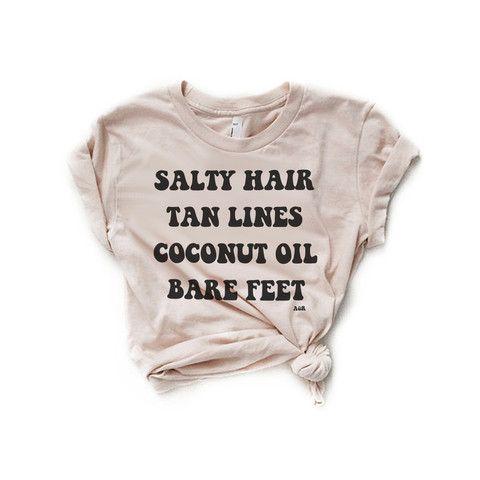 SALTY HAIR & TAN LINES - Alley & Rae Apparel - 1