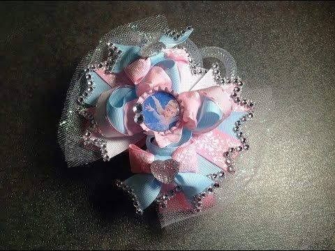 HOW TO make a 5 inch over the top stacked hair bow - YouTube