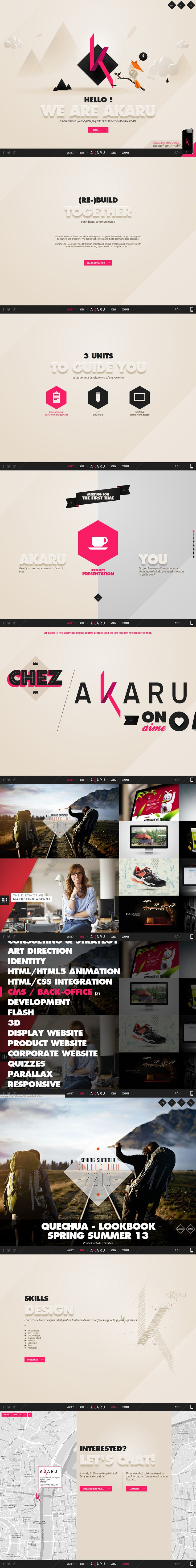 Akaru #Agency from #France #webdesign #website #webpage #onepagedesign #design http://www.akaru.fr/
