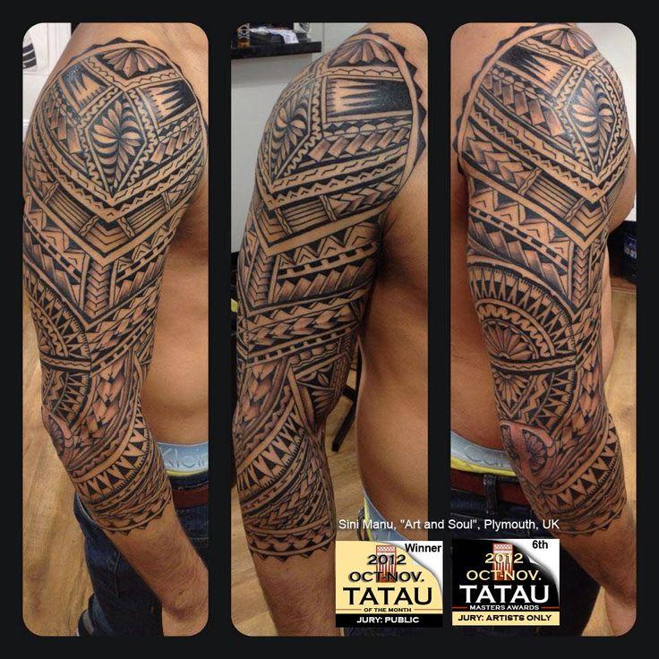 """Samoan tattoo - Sini Manu, """"Art and Soul"""", Plymouth, UK"""