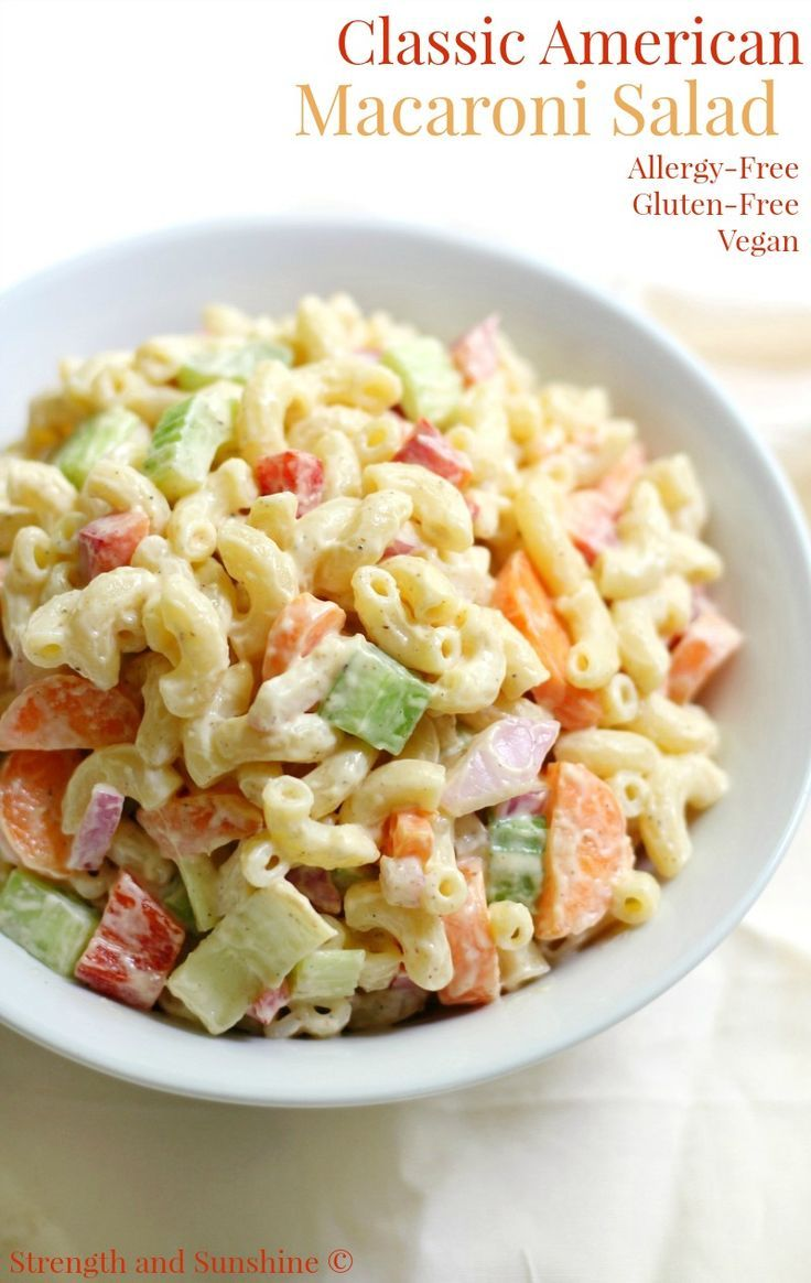 The best Classic American Macaroni Salad now with a gluten-free, vegan, & allergy-free recipe! Summer isn't complete without this traditional side dish!