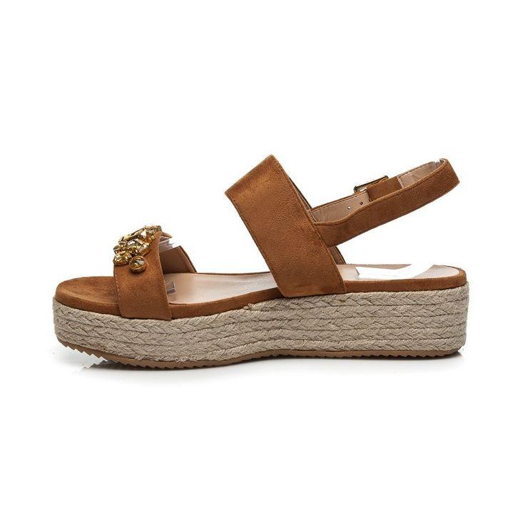 Sandále espadrilky s kamienkami 8133-17C