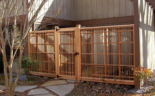 Japanese garden gate made of clear kiln dried western for Japanese garden trellis designs