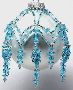 aqua :) I just LOVE this ornament. I create similar types of ornament drapes and this one is truly a GEM!!!