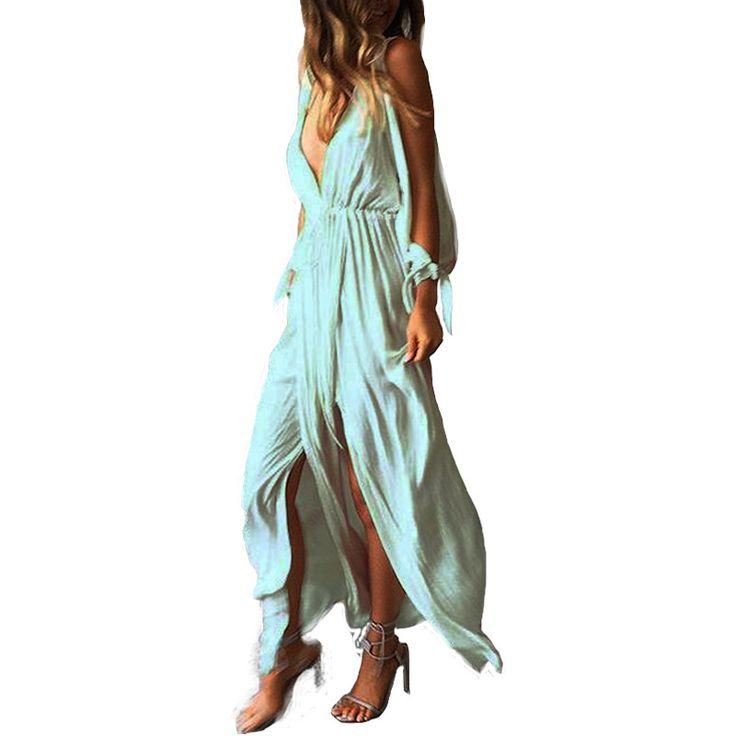 #vestido #boho #fiesta #bohochic #matrimonio #escote #largo #confeccion a medida