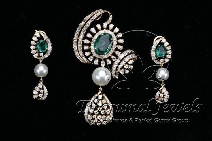 Diamond Locket Set   Tibarumal Jewels   Jewellers of Gems, Pearls, Diamonds, and Precious Stones