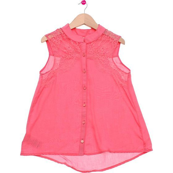 Camisa Infantil Feminina Rasa Claro Joy