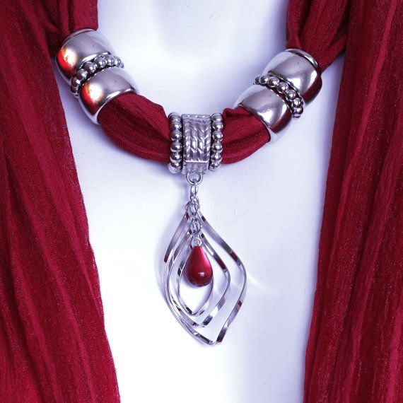 Scarves With Pendants Jewelry Scarves by RavensNestScarfJewel, $23.00