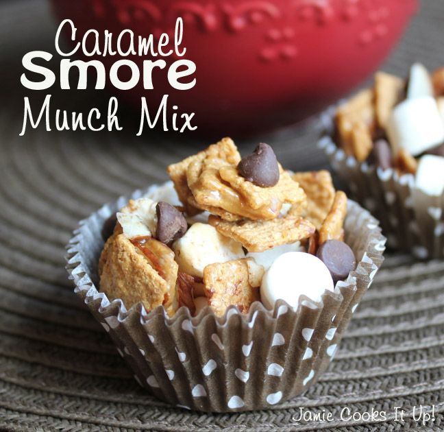 Caramel Smore Munch Mix from Jamie Cooks It Up!