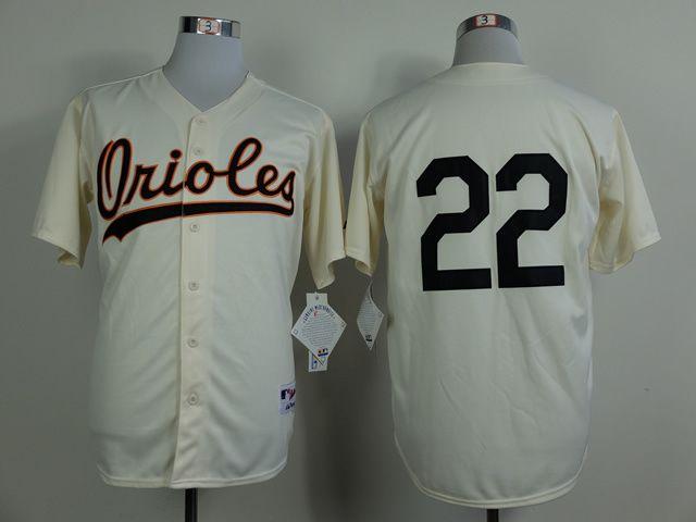 9324f0fa154 MLB Baltimore Orioles 22 Jim Palmer Gream 1954 Turn The Clock Jersey