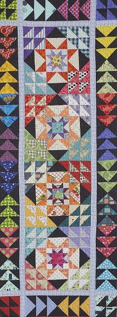 Wanderlust Quilt with Bonnie Hunter (Scrap Quilting Basics from Beginning to Binding!) - Craft University  table runner