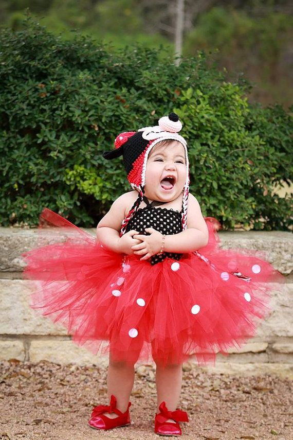 COMPLETE OUTFIT Tutu Dress AND Handmade 3D Crochet MINNIE MOUSE Hat By HandpickedHandmade 2800 At
