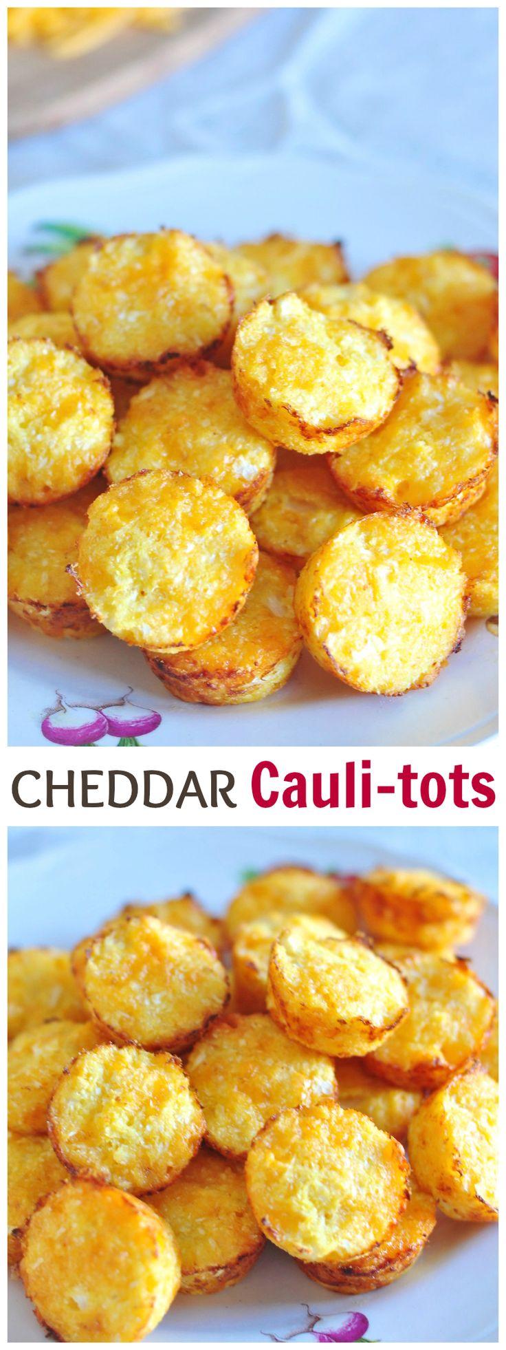 Crispy cheddar cauli-tots #easyrecipe #cauliflower #kidfood