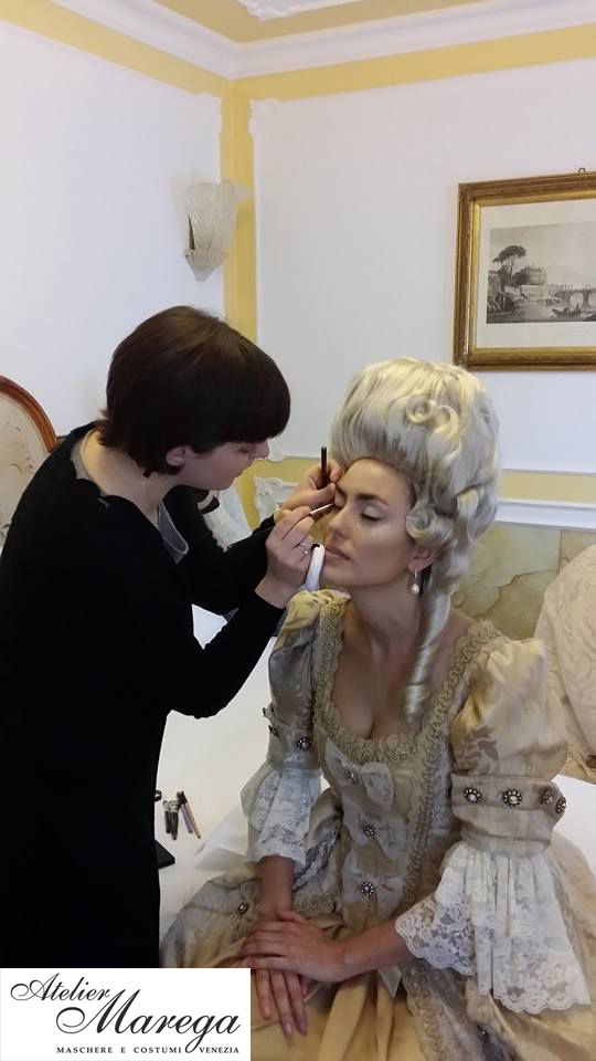 We love to make our clients comfortable and absolutely stunning. Beside costumes and accessories, we also provide make-up services and much more.  www.marega.it