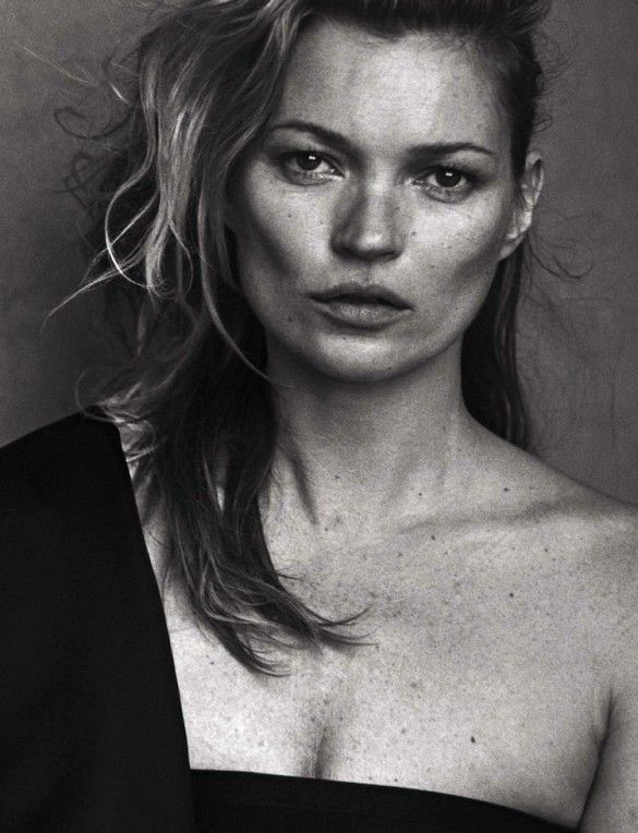 Kate Moss never ages // Photo by Peter Lindbergh for Vogue Italia