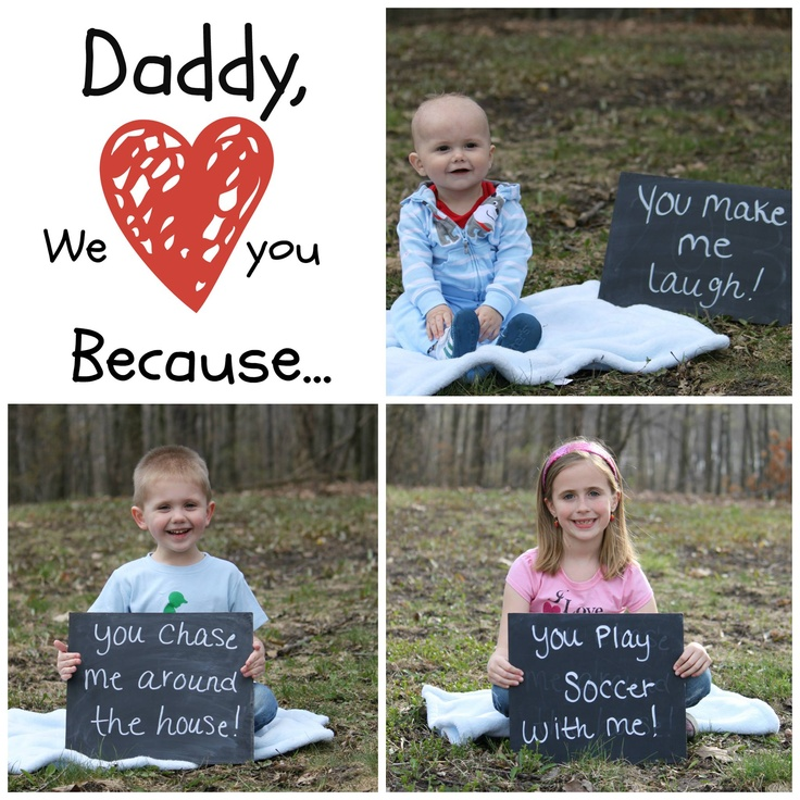 This is the sweetest father's day card idea done by a photographer friend of mine, Jill Knurek-Vanderziel and her three precious children!!! Too sweet