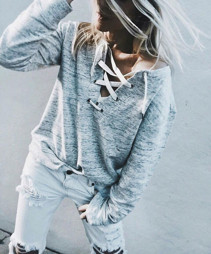 Tied up sweater weather // Shop similar sweater styles on Effinshop.com xx