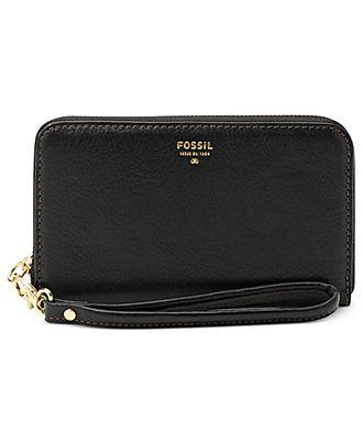 Fossil Wallet, Sydney Leather Zip Phone Wristlet - Handbags & Accessories - Macy's