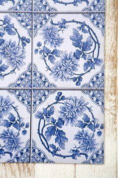 Delft blue rug - Urban Outfitters