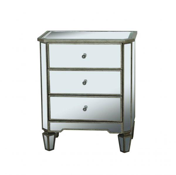 Grey Wood Glass Mirrored Drawer Accent Chest · Pulaski FurnitureMirrored ...