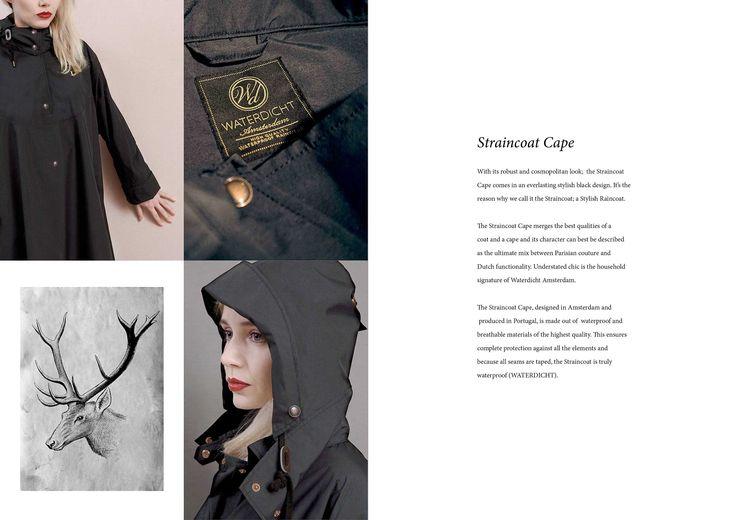 WATERDICHT Amsterdam  Straincoat Cape, stylish raincoat