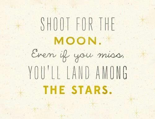 """""""Apuntá a la luna. Aunque le erres vas a aterrizar entre"""