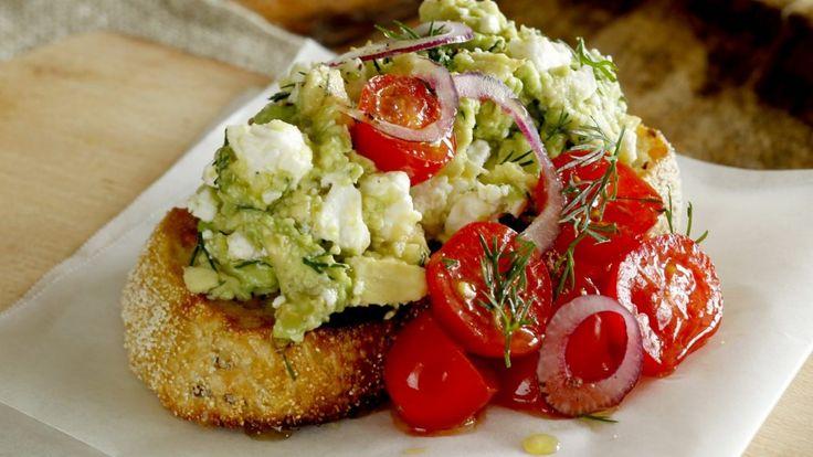 The FAT: Smashed avocado and feta on toast