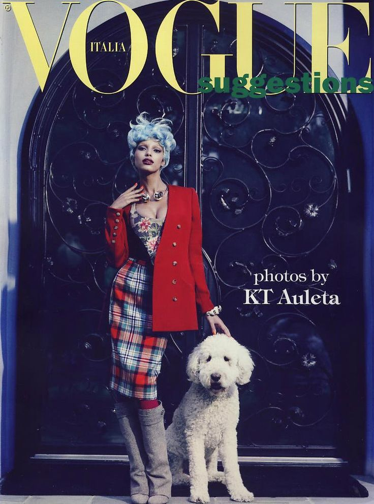 Tartan editorial fashion on Vogue front cover