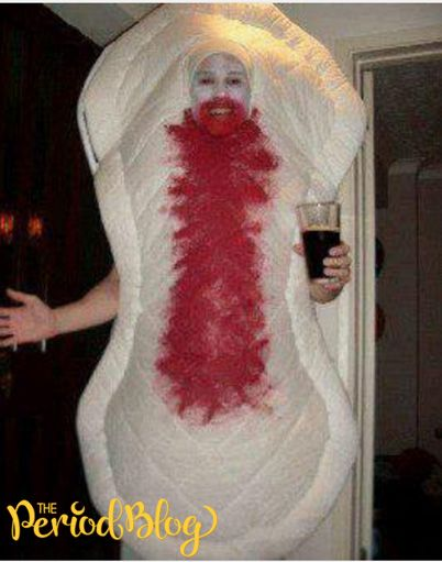 how to make a maxi pad costume