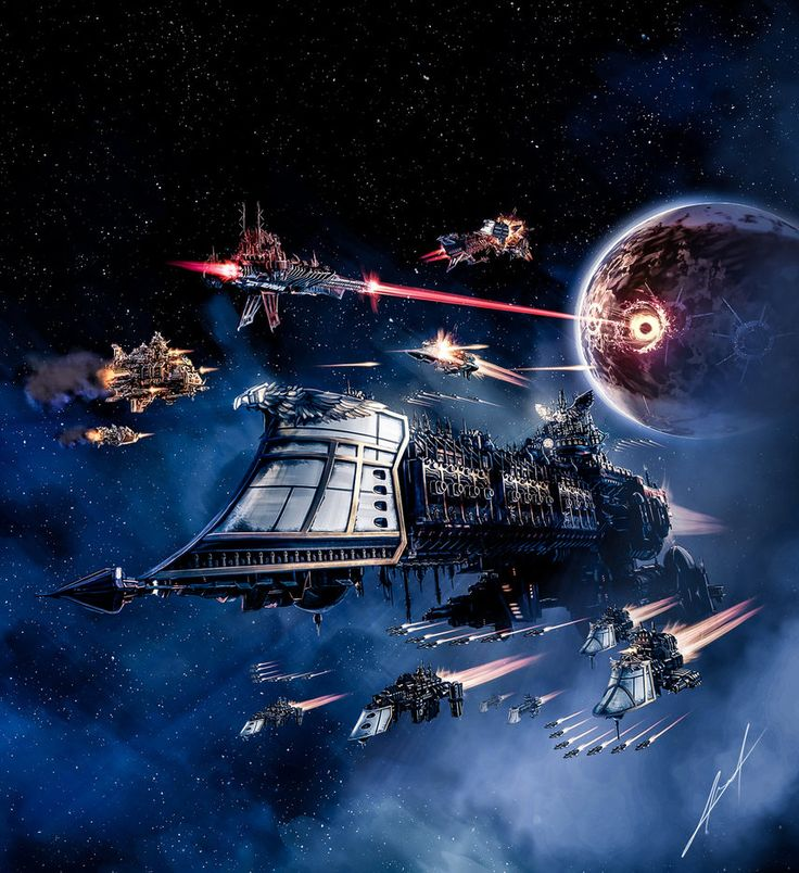 """inoxhammer: """" Battlefleet Gothic: Armada by Callyste http://callyste.deviantart.com/art/Battlefleet-Gothic-Armada-606966497 My Etsy Shop: https://www.etsy.com/shop/InoxHammer """""""